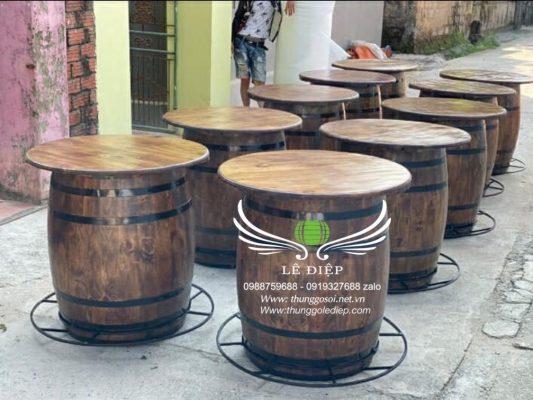 bán bàn gỗ trang trí quán cafe