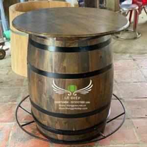 bàn rượu gỗ trang trí