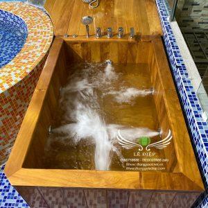 bán thùng tắm gỗ sục massage