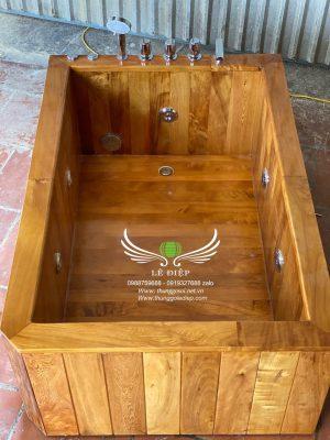bồn gỗ massage