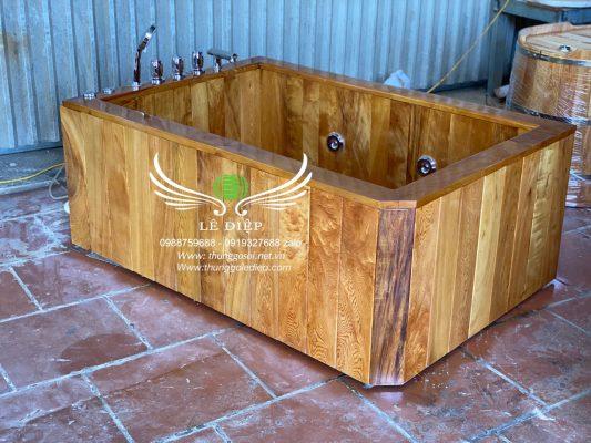 bồn sục massage bằng gỗ