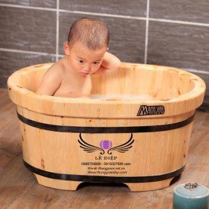bồn tắm cho bé gỗ pơ mu