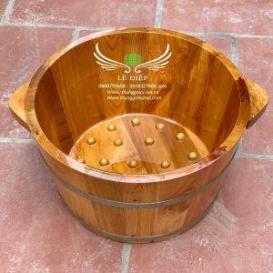 chậu gỗ ngâm chân gỗ pơ mu