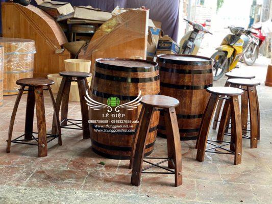 bàn trang trí gỗ thông
