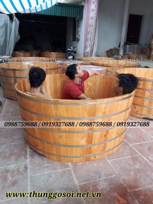 bồn tắm gỗ khách sạn