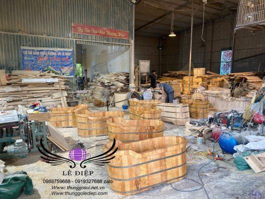 cơ sở sản xuất bồn tắm gỗ lê điệp