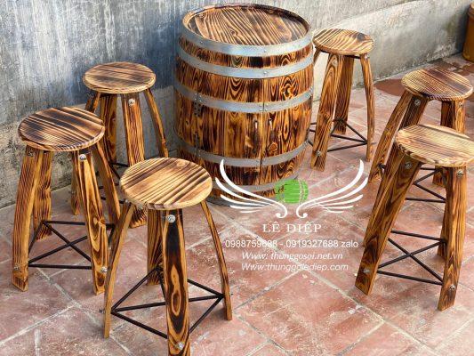 bán bộ bàn ghế gỗ thông