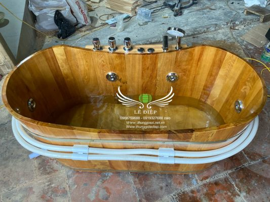 bán bồn gỗ sục massage