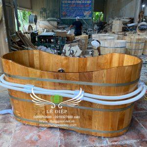 bồn gỗ sục massage
