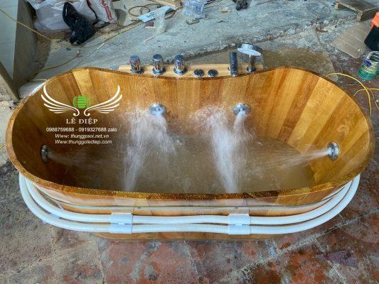 bồn tắm gỗ sục massage cao cấp