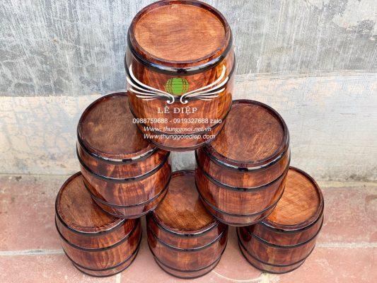 đèn thùng rượu bằng gỗ thông