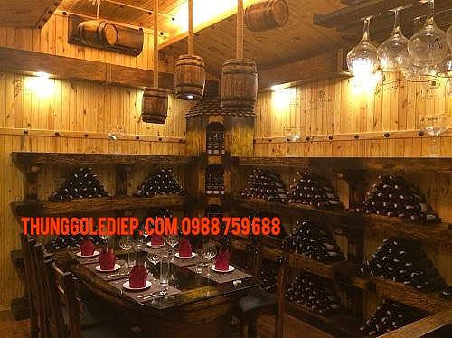 đèn thùng rượu trang trí nhà hàng
