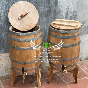 thùng ngâm rượu gỗ