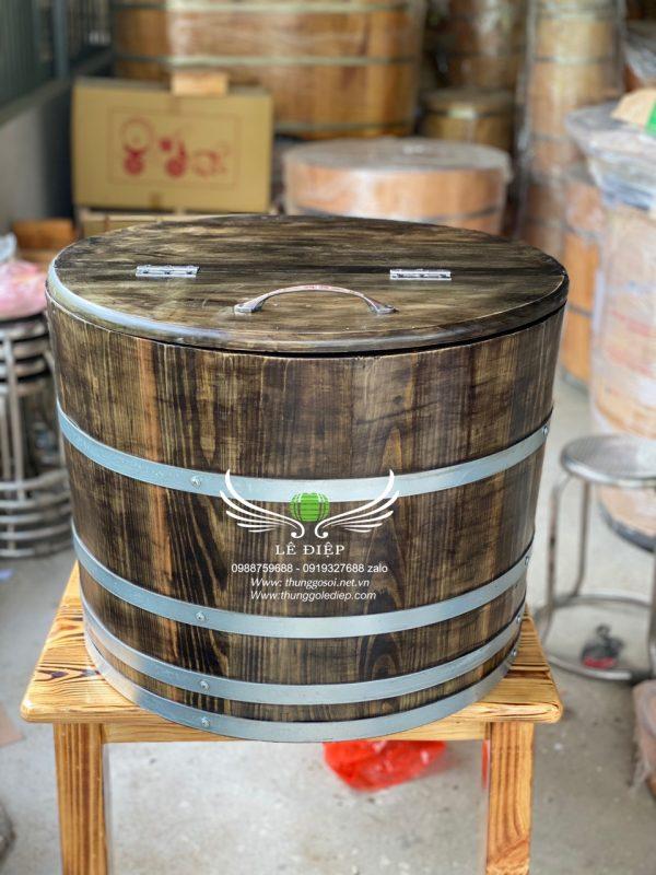 bán thùng gỗ đựng đá