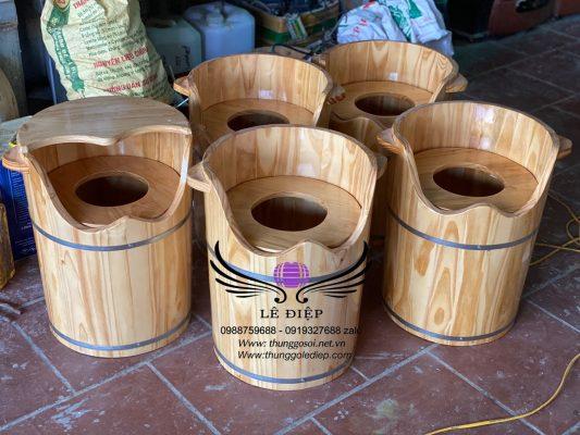 thùng xông hơi vùng kín gỗ