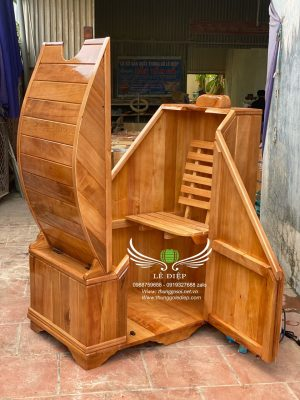 bồn gỗ xông hơi cao cấp