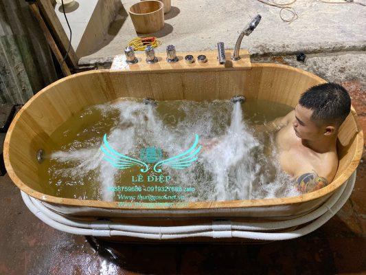 bồn tắm sục massage