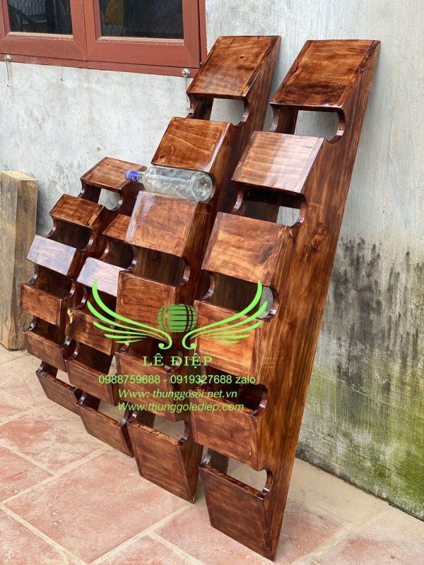 kệ gỗ để chai rượu