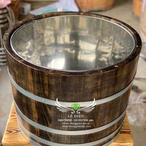 thùng đựng đá gỗ thông