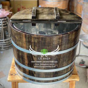 thùng gỗ đựng đá