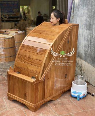 bồn gỗ xông hơi