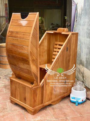 thùng xông hơi bằng gỗ pơ mu