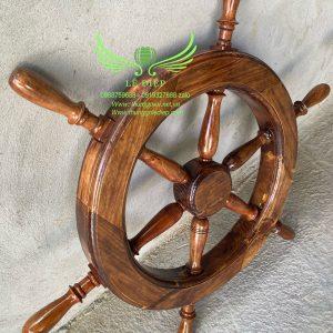 vô lăng lái thuyền bằng gỗ