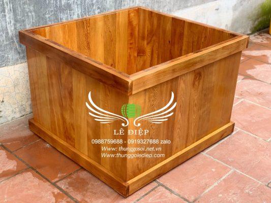 bán bồn tắm gỗ hình vuông