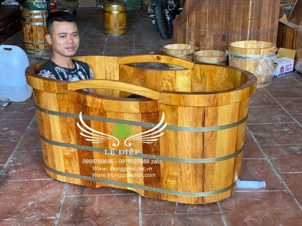 thùng tắm gỗ cao cấp tại hcm