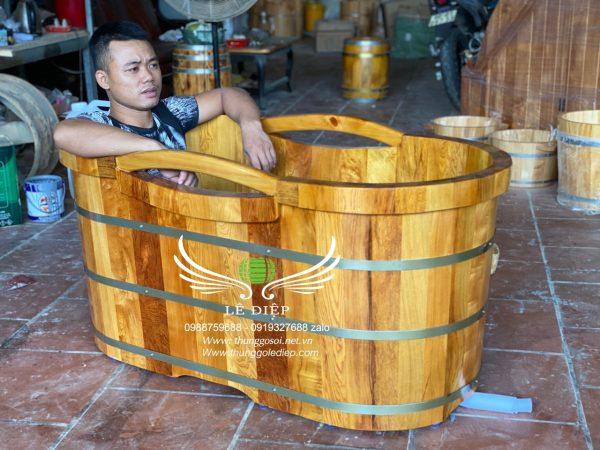 thùng tắm gỗ cao cấp