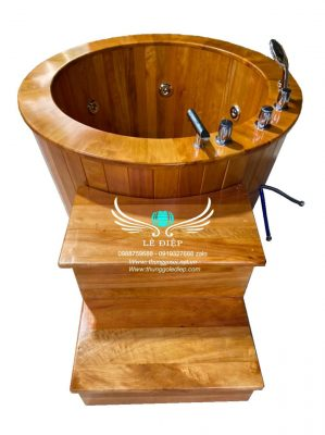 thùng gỗ sục massage