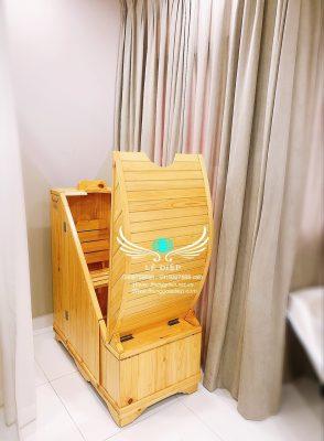 thùng gỗ xông hơi cho spa tại hà nội