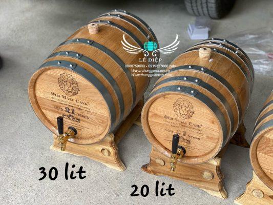 bom gỗ sồi đựng rượu
