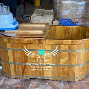 bồn tắm gỗ xông hơi cao cấp