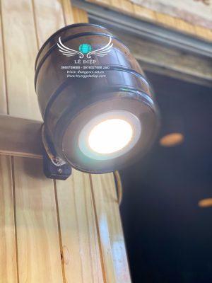 đèn gỗ trưng bày