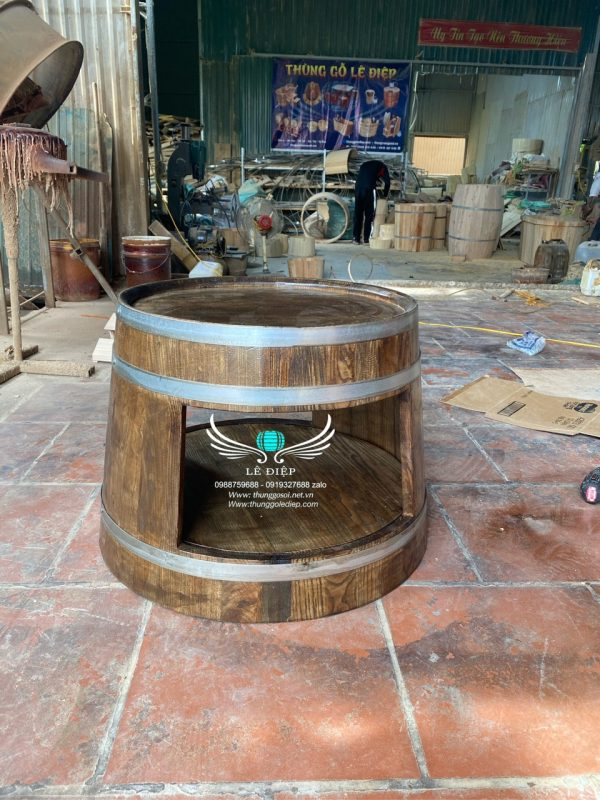 thùng rượu gỗ
