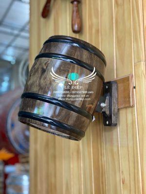 thùng trang trí gỗ thông