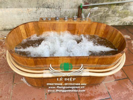 thùng tắm gỗ kiểu nhật