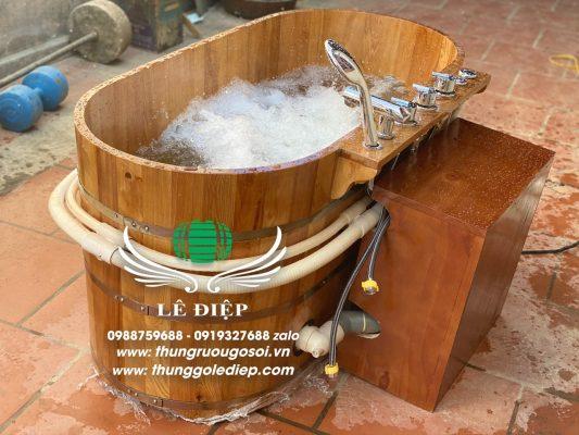 bồn tắm gỗ pơ mu