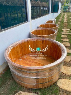 bồn tắm gỗ đôi cao cấp