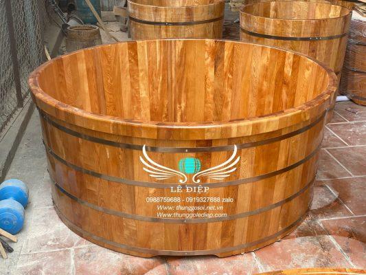 bồn tắm gỗ gia đình cao cấp