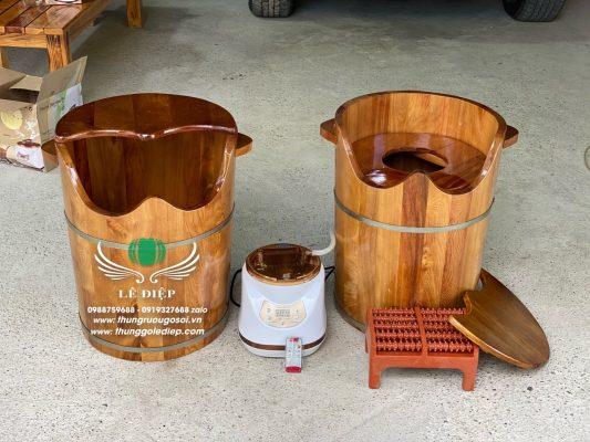thùng gỗ xông chân cao cấp