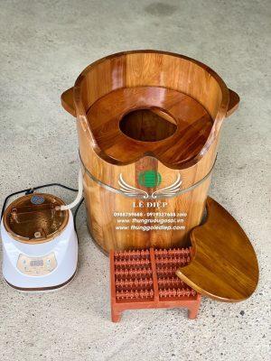 thùng xông hơi phụ khoa gỗ pơ mu