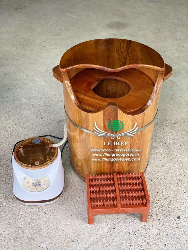 thùng xông phụ khoa gỗ pơ mu